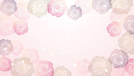 vector background  of Camellia illustration Foto de archivo - 144591585