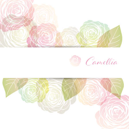 background illustration of Camellia decorations Foto de archivo - 144767002