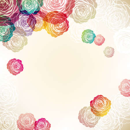 background illustration of Camellia decorations Foto de archivo - 144832184