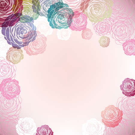 background illustration of Camellia decorations