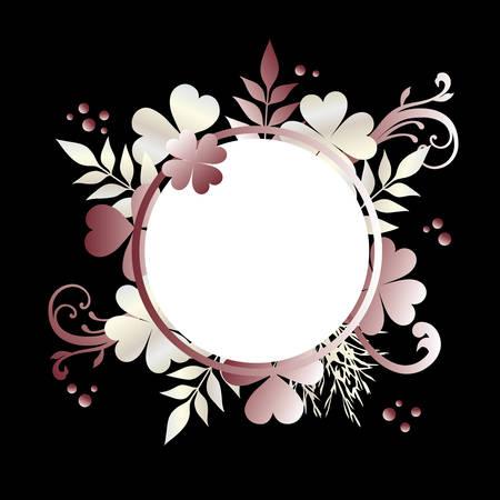 pink clovers on the black background Foto de archivo - 145285607