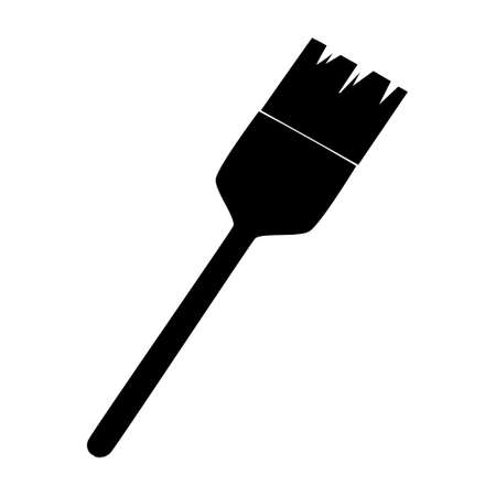 Hair dye brush. Hairdresser tool simple isoleted vector icon
