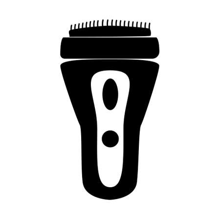 Electric shaver. Hairdresser tool simple isoleted vector icon