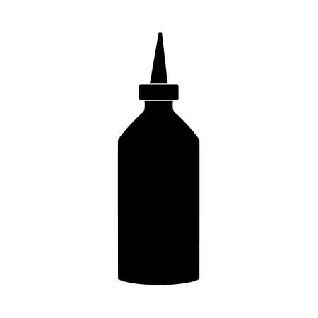 Tube of hair dye. Hairdresser tool simple isoleted vector icon 向量圖像
