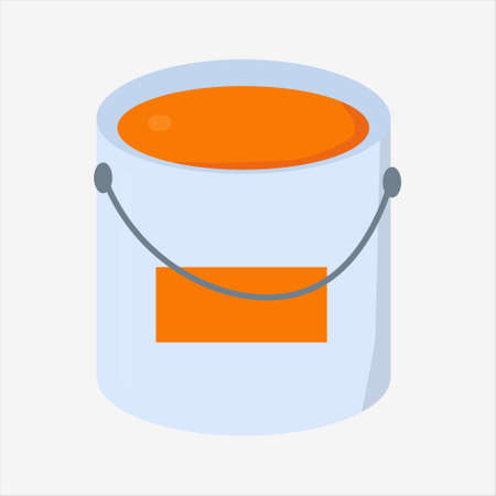 Paint bucket vector illustration for repair or home inovation theme.