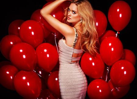Party. Sexy girl. Celebrating. Standard-Bild