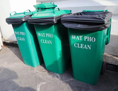 beautiful garbage bin in the outdoor gardens