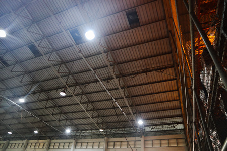 Beautiful closeup metal steel and aluminium frame buildings factory and cargo construction design