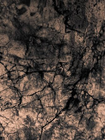 Abstract tiles floor and rock on yellow darkness background and wallpaper