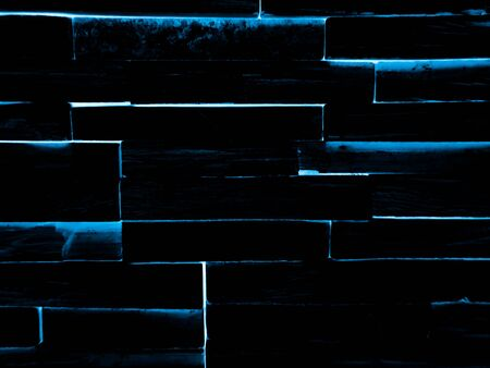 Beautiful abstract color blue grunge marble on black background and gray and blue granite tiles floor on blue background, love gray wood banners graphics, art mosaic decoration Stock Photo - 150308541