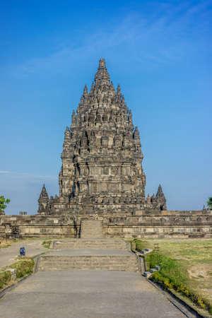 Prambanan temple complex. 9th century Hindu temple located near Yogyakarta on East Java, Indonesia