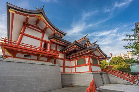 Tokyo, September 1, 2016. Hanazono Shrine (Hanazono Jinja) Shinto shrine located in Shinjuku ward, dedicated to  Inari deity (Inari Okami) is often visited by businessmen to pray for success. Editorial