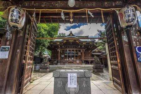 도쿄-2016 년 8 월 29 일. 시타 야 신사 (시타 야 신사) 또는 시모 타니 신사, 도쿄 다이토 구 히가시 우에노. 에디토리얼
