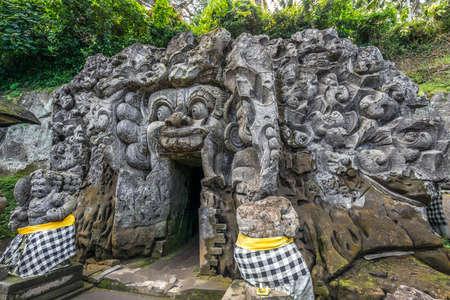 Pura Goa Gajah (Elephant Cave Temple) Located on the island of Bali near Ubud, in Indonesia