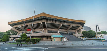 Chiyoda, Tokyo - August 3, 2018 : Nippon Budokan. Indoor arena located in Kitanomarukoen Park Used also as concert stage.  Modeled after Yumedono hall of Horyu-ji in Nara