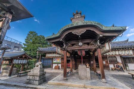 Kyoto - November, 2017 : Marishisonten-do Temple. Sub-temple of Kennin-ji. Devoted to Marishiten deity. Located Gion district,  Higashiyama, Kyoto, Japan