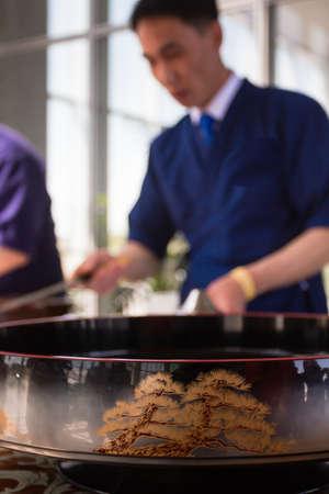 aliments: Japan series. Sushi, rolls, Kimono, Japanese food, Japanese knife
