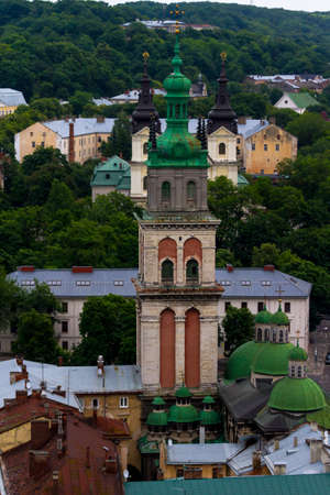 The capital of the west Ukrainian Lviv is beautiful in any weather! Stock Photo