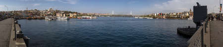 Panorama of Golden Horn Bay from Galata Bridge, Istanbul