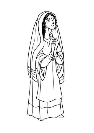 성모 마리아는 예수 그리스도의 어머니입니다. 스톡 콘텐츠