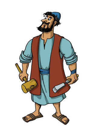 Joseph the carpenter, husband of Mary, the earthly Father of Jesus Christ.