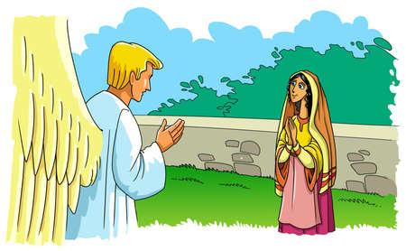 Anioł Gabriel ukazał się Maryi Pannie i poinformował ją o narodzinach Syna.