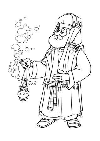 낡은 사제 사가랴는 침례 (세례) 요한의 아버지입니다.