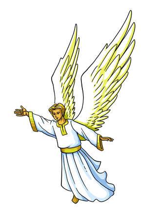 천사는 베들레헴에서 목자들에게 그리스도의 탄생을 알립니다.