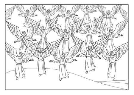 노래 천사의 합창단은 목자들에게 나타났습니다.