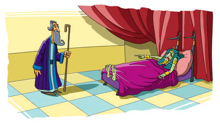 Pharaoh fell ill because he wanted to take the wife of Abraham Sarah. Stock Photo