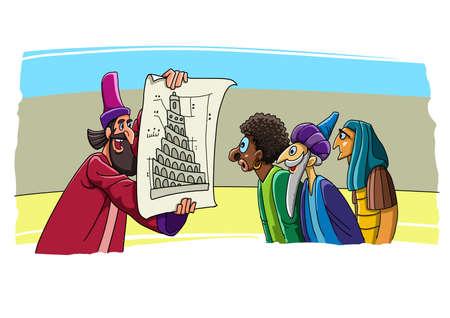 Building plan of the tower of Babel 版權商用圖片