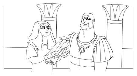 Joseph slave in the house of Potiphar in Egypt 版權商用圖片