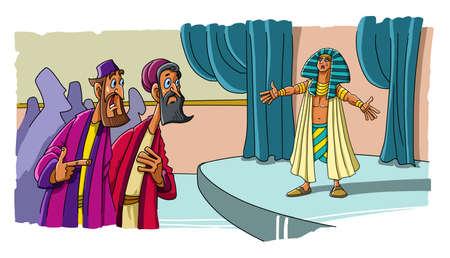 Joseph reveals himself to his brothers in Egypt 版權商用圖片