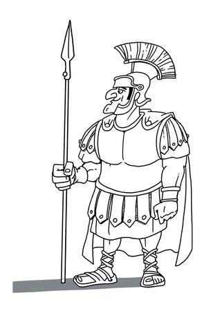 Roman warrior centurion 版權商用圖片