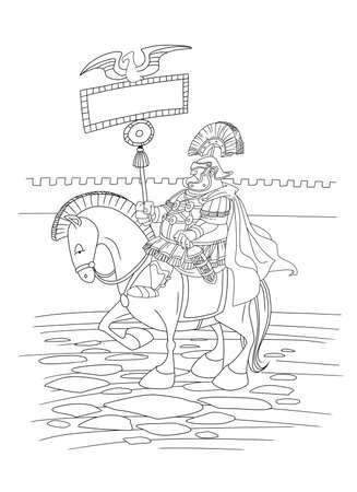 Roman legion commander 版權商用圖片