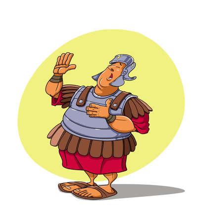 Roman soldier swears an oath