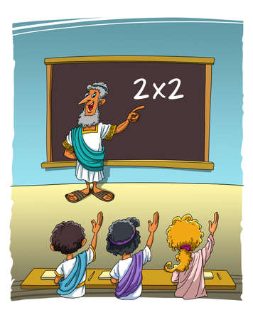 The Ancient Greek Teacher asks the students an easy task and everyone knows the correct answer