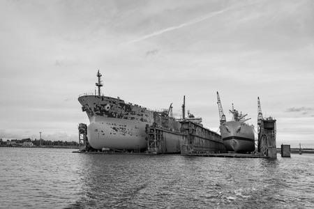 Ship repairs floating docks.