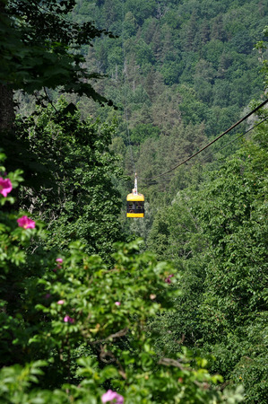 tramway: Funicular tram takes people across the glen.