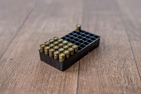 Guns ammunition packaging.