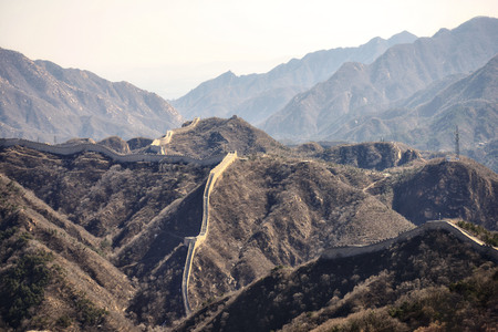 The Great Wall is generally built along an east-to-west line across the historical northern borders of China. Stock fotó - 103276286