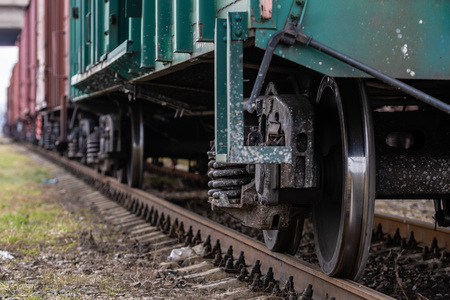 Freight trains on city cargo terminal - Image