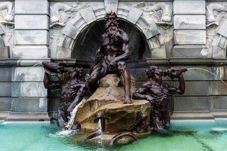 Der Court of Neptun Fountain in der Nähe des Senats in Washington DC