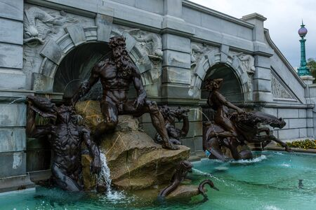 The Court of Neptune Fountain near the Senate in Washington DC Standard-Bild
