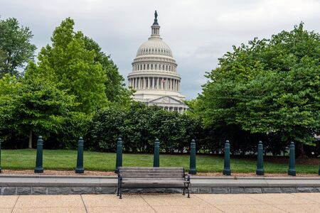 US Capitol Building in Washington DC. View from First street.