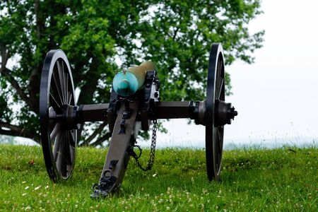 A civil war canon on the Gettysburg National Military Park, Gettysburg, PA