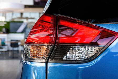 Close-up of the rear light of a modern car. Exterior details - image