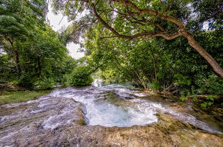 Rapids in the Krka river, Krka national park, Dalmatia, Croatia Stockfoto