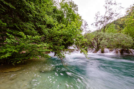 National park Plitvice lakes and waterfalls in Croatia