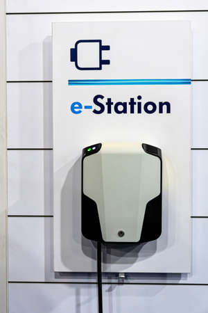electric car charging station, battery hybrid vehicle eco charger, future energy power, clean ecology concept